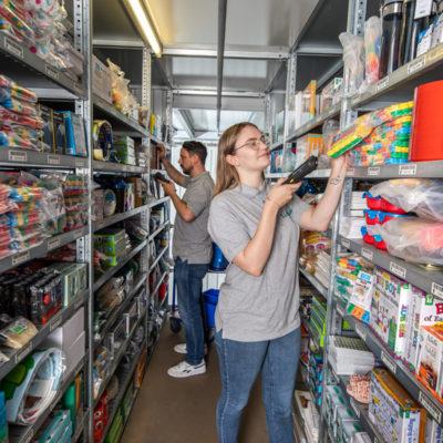 Binning Ecommerce Kommissionierung Kleinteilelager Online Shop Bestellungen Paketdienst