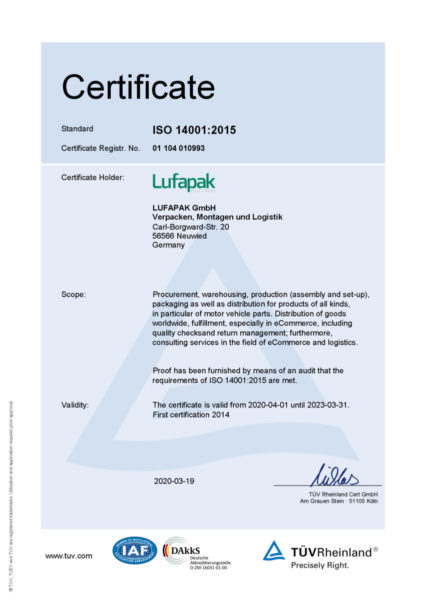 Zertifikat Iso 14001 2015 200618 310320 De