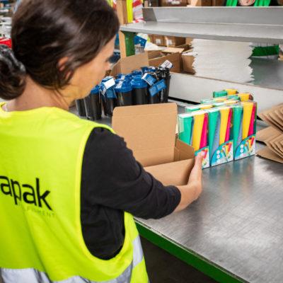 Ecommerce Kitting Einzelverpackung Verpacken Kit Packing Verkaufssets Kundenverpackung Logistik