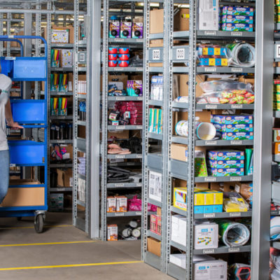 Kommissionierung Ecommerce Packen Versand Transport Bestellabwicklung Kleinteile Lager Binning