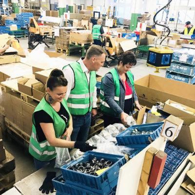 Wareneingangskontrolle Ersatzteile Ersatzteillager Ersatzteilmanagement Ersatzteillogistik Fulfillment